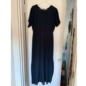 Black maxi dress by ICHI